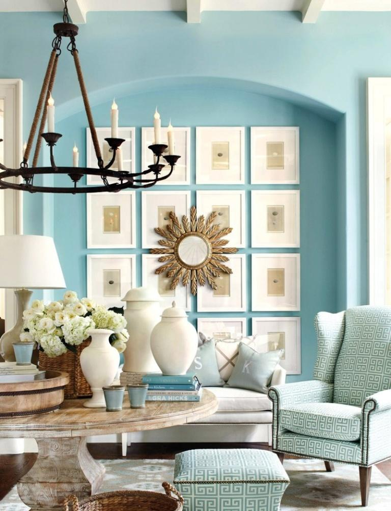 20 radiant blue living room design ideas rilane for Living room ideas blue