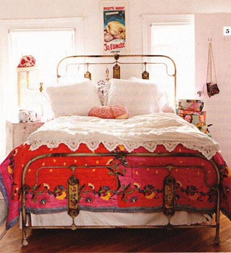 Refined Bohemian Bedroom. Image Source: Porter House Design