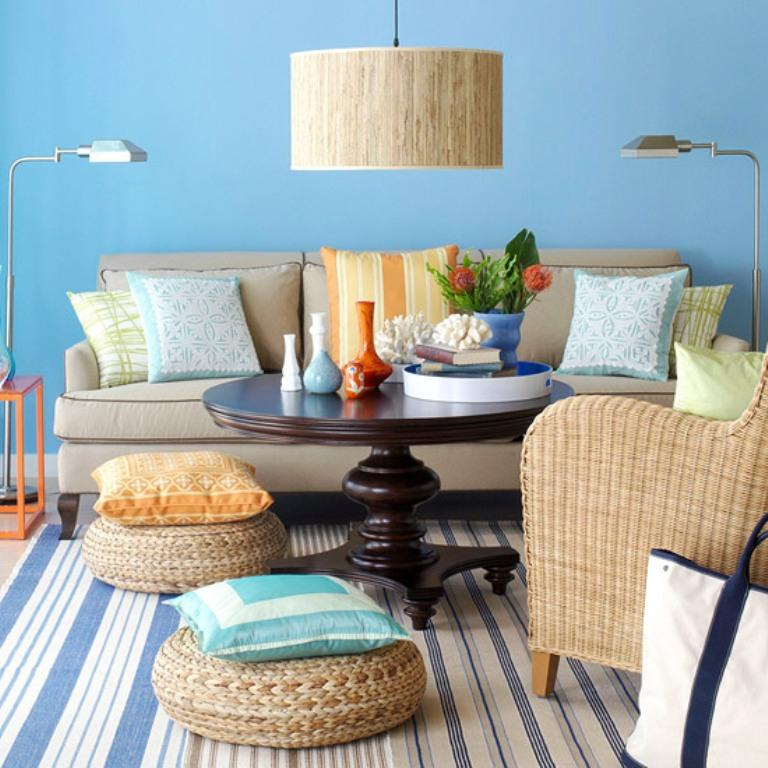 20 Charming Blue And Yellow Living Room Design Ideas: 20 Radiant Blue Living Room Design Ideas