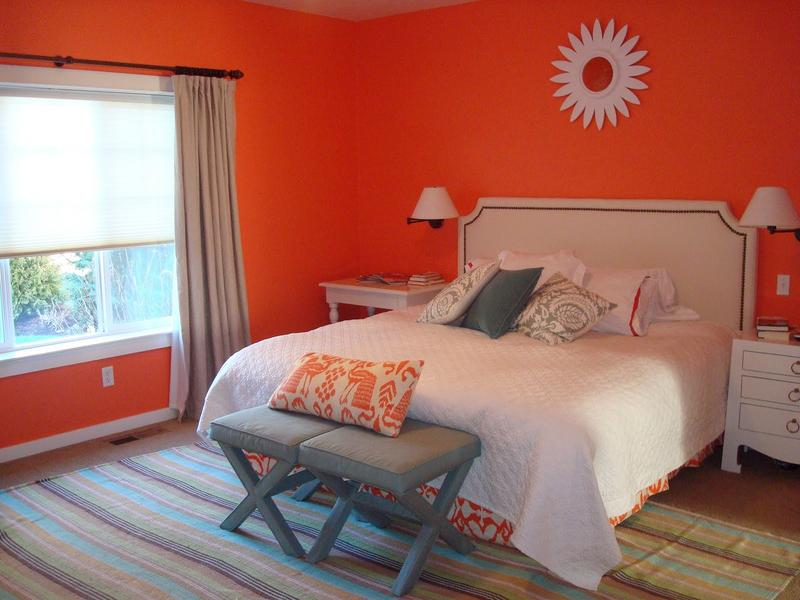Refreshing Orange Bedroom Designs Rilane