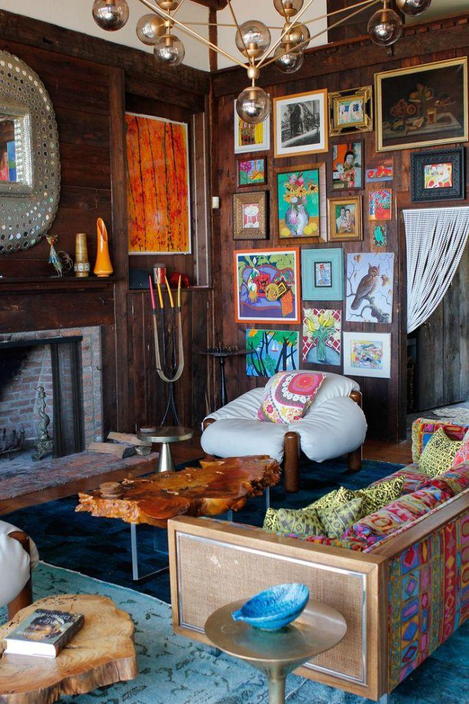 rustic eclectic living room - Eclectic Decor