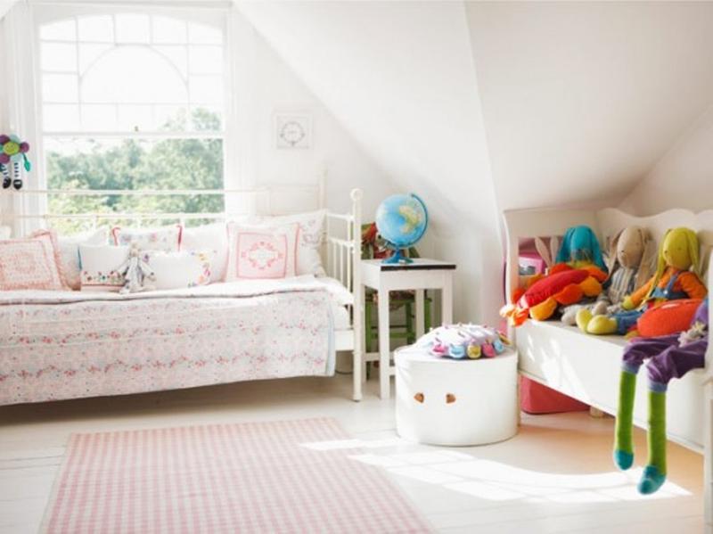 Serene White Little Girl Bedroom
