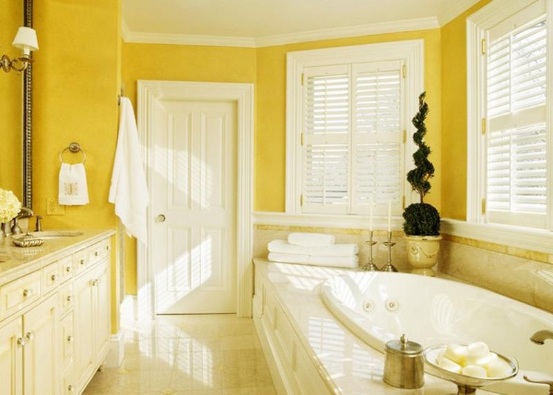 Serene Yellow Bathroom