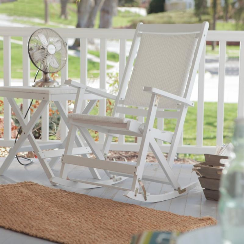 Genial Simple White Rocking Chair