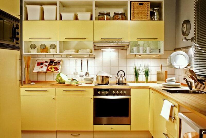Sleek Pastel Yellow Kitchen