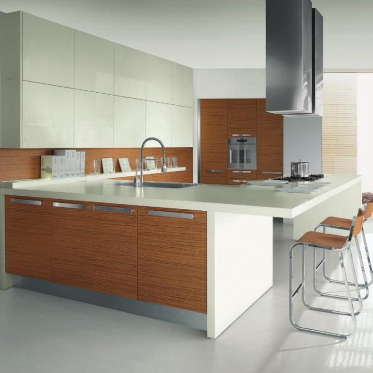 15 extremely sleek and contemporary kitchen island designs for Sleek kitchen designs