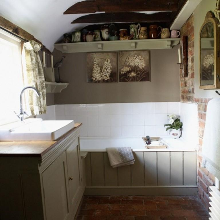 Small French Country Bathroom 15 Charming French