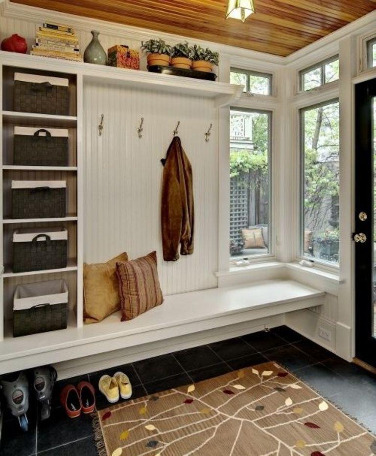 40 Organized Hallways With Beautiful Coat Rack Bench Rilane Custom Coat Rack With Bench