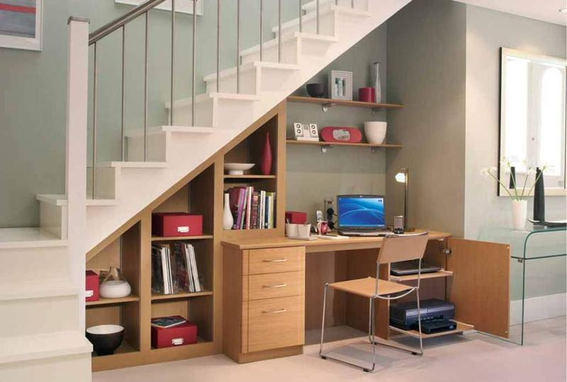 Spacious Under Stairs Home Office