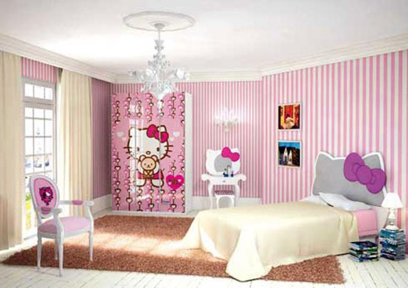 Bedroom Designs Hello Kitty 15 adorable hello kitty bedroom ideas for girls - rilane
