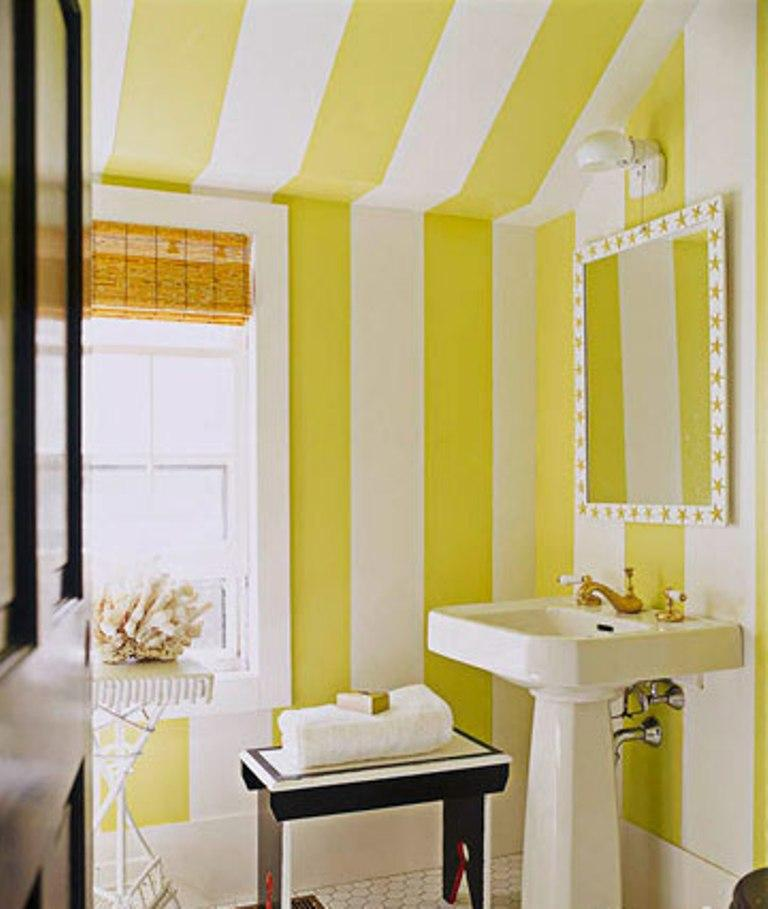 Striped Yellow Bathroom