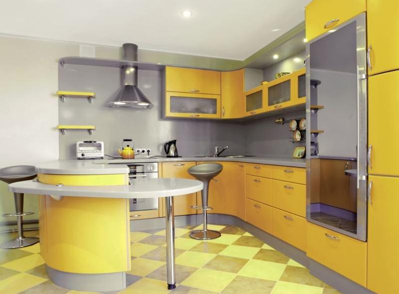 Stylish Yellow Kitchen