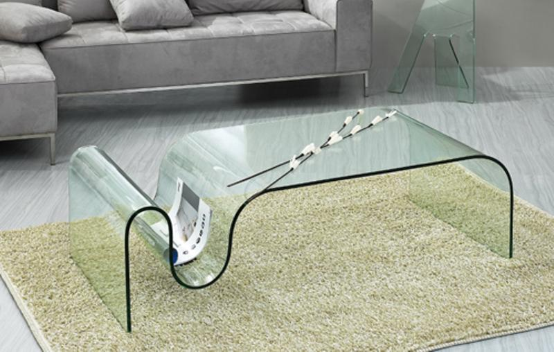 Exceptional Swirl Glass Coffee Table