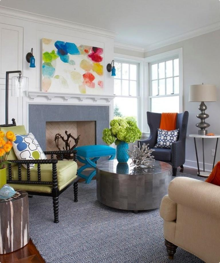 Traditional Eclectic Living Room. Image Source: Elle Decor Part 11