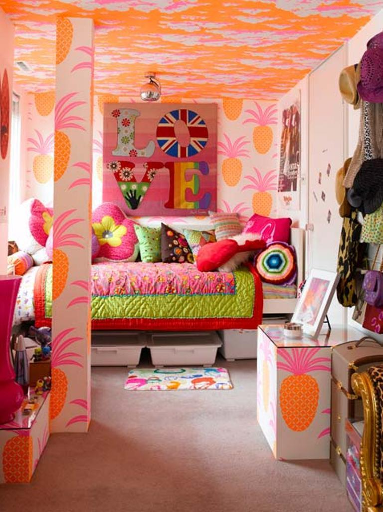 Tropical Little Girl Bedroom