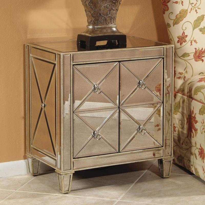 10 classy mirrored bedside table designs rilane for Mirror bedside table