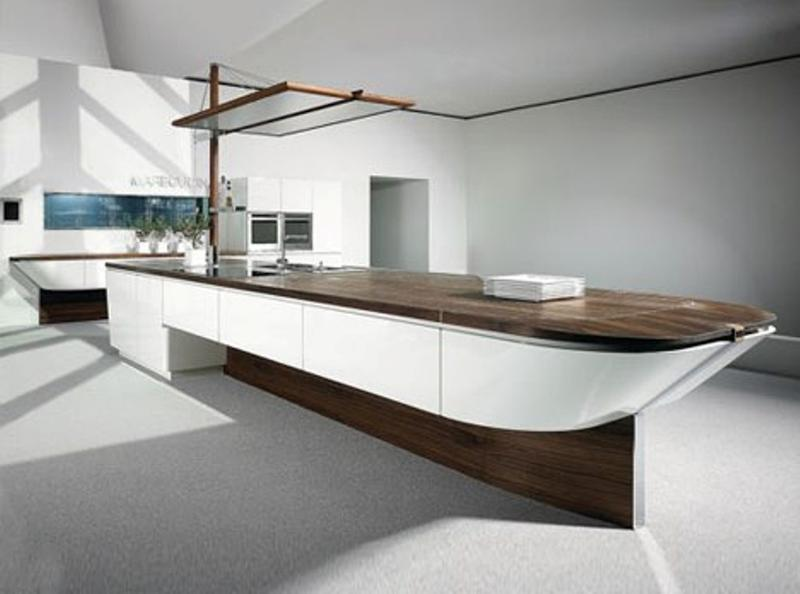 15 extremely sleek and contemporary kitchen island designs for Sleek modern kitchen ideas