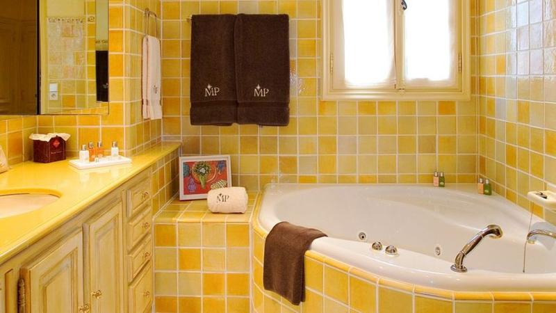 Vibrant Yellow Bathroom