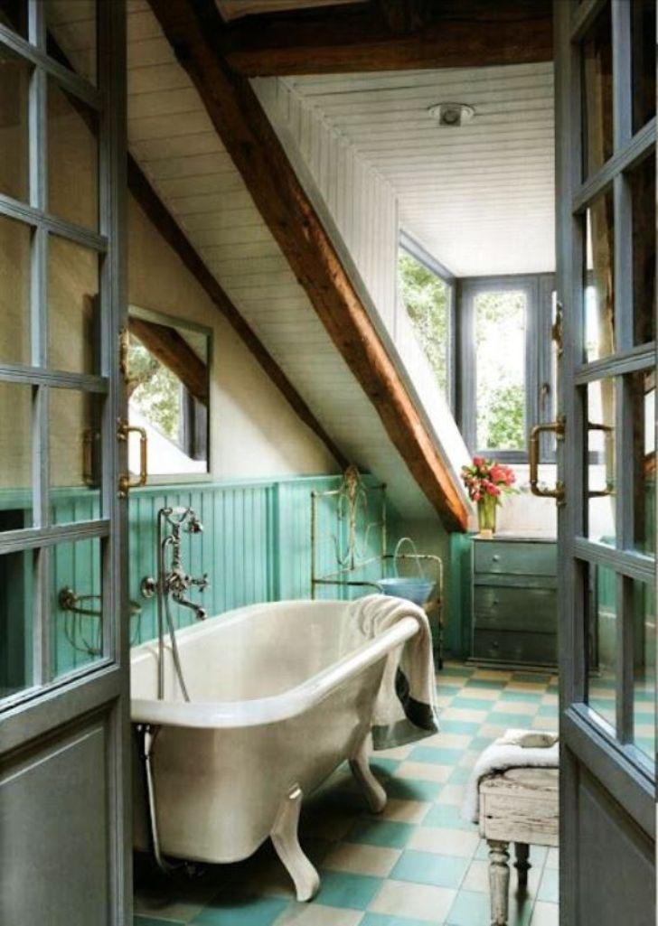 Vintage Attic Bathroom  15 Magnificient Attic Bathroom Designs Rilane. Attic Bathroom Layout