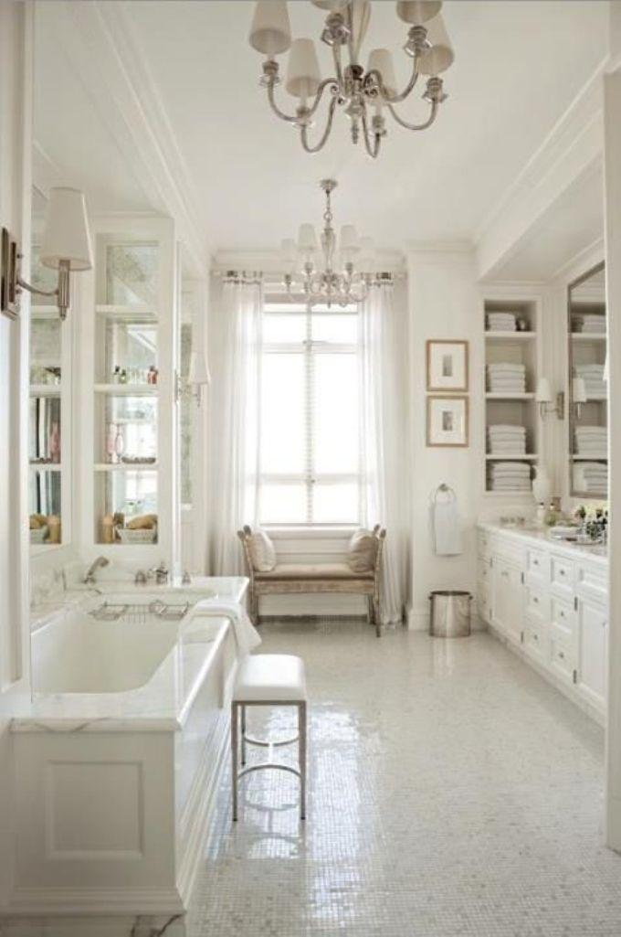 White French Country Bathroom