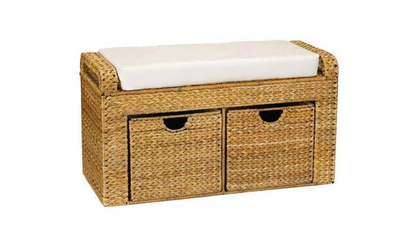 Wicker Storage ottoman - 10 Beautiful Storage Ottoman Bench Ideas For The Bedroom - Rilane