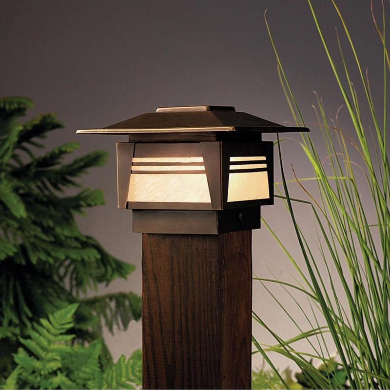 Zen Garden 1 Light Outdoor Post Lamp
