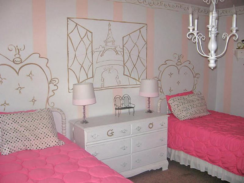 Adorable French Bedroom For Girls