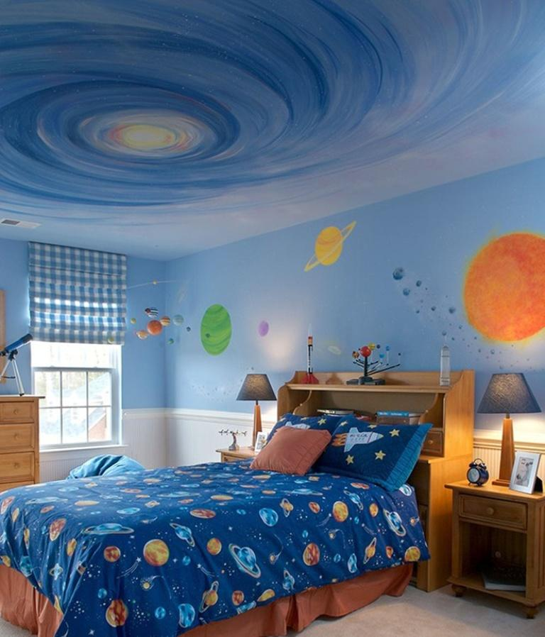 15 fun space themed bedrooms for boys rilane for Outer painting design