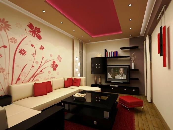 15 Black, Red And White Themed Living Rooms