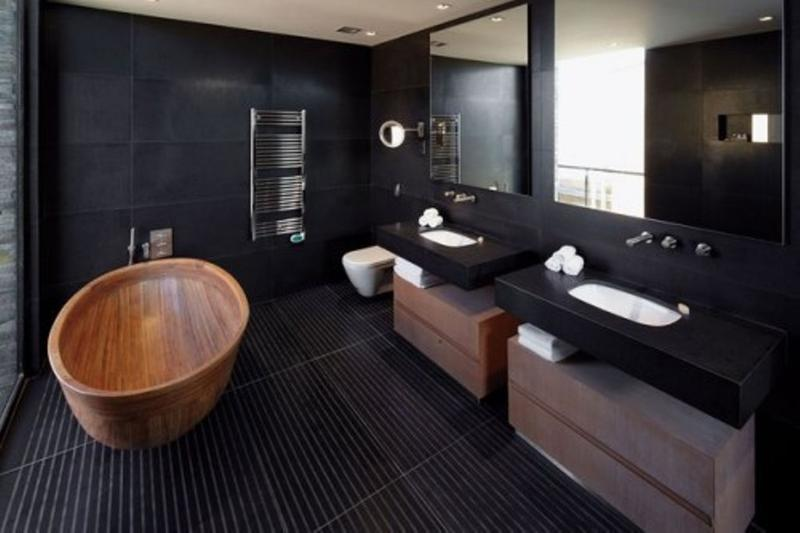 20 Bold Black Bathroom Design Ideas - Rilane