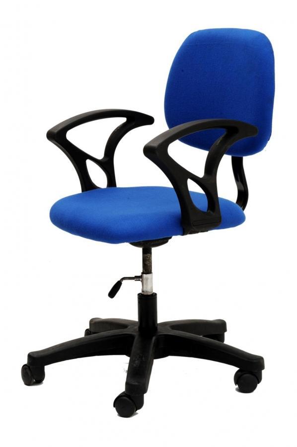 Genial Blue Cushioned High Computer Chair