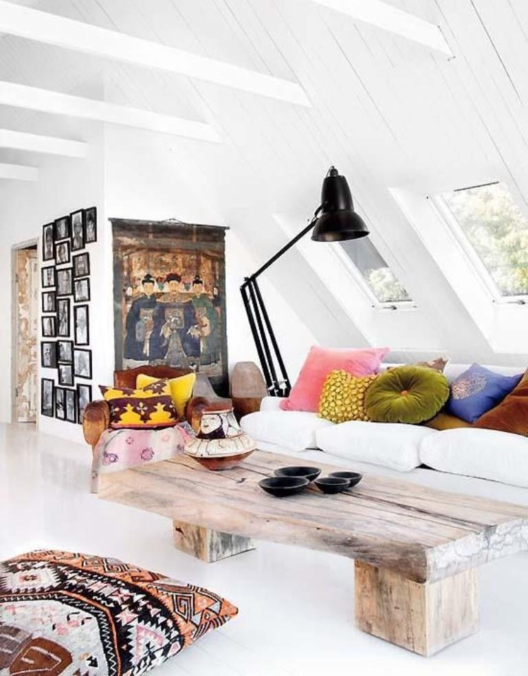 Bohemian Living Room In The Attic