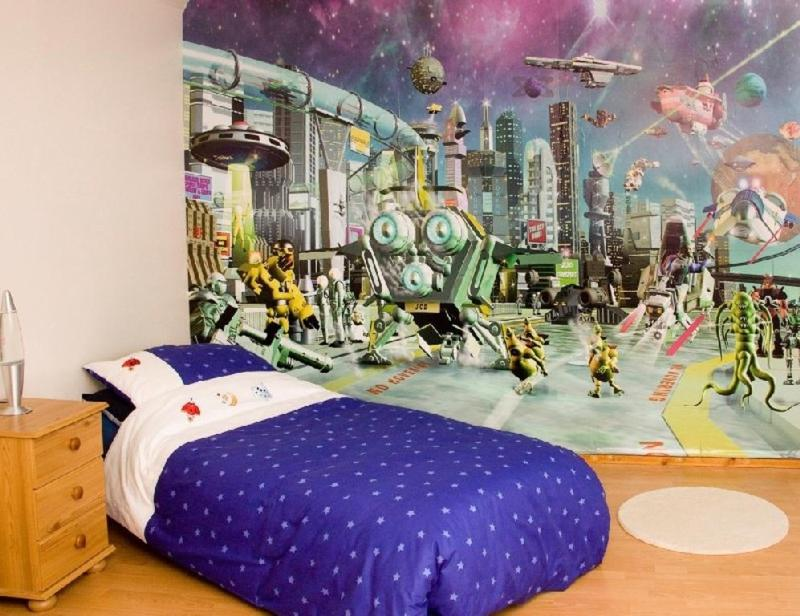 Bold Space Themed Bedroom