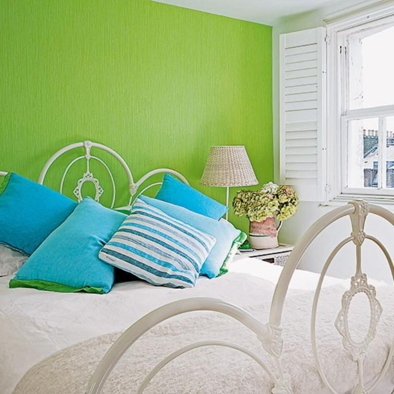 20 cheery green bedroom designs to leave you in awe rilane for Bright green bedroom ideas