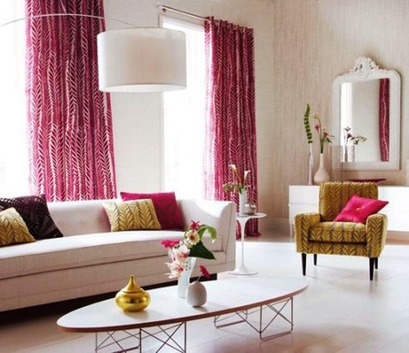 Lively And Colorful Curtain Ideas For The Living Room Rilane - Curtain ideas for living room
