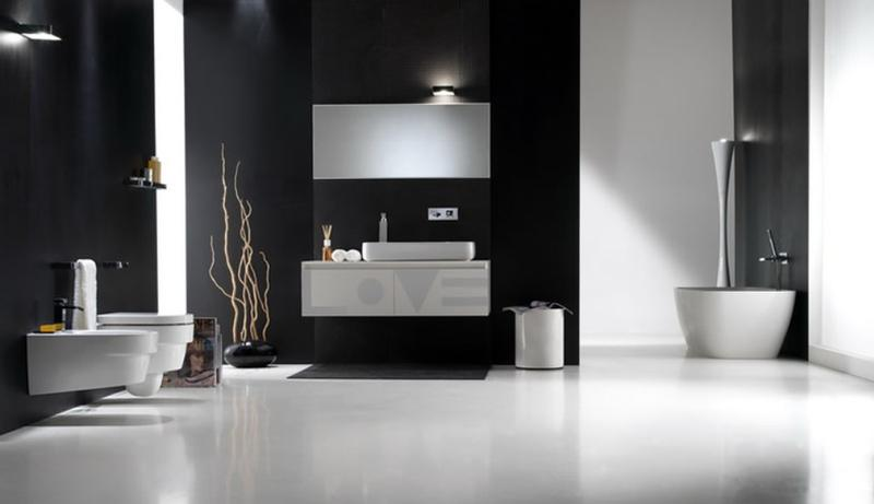 Contemporary Black Bathroom Part 22