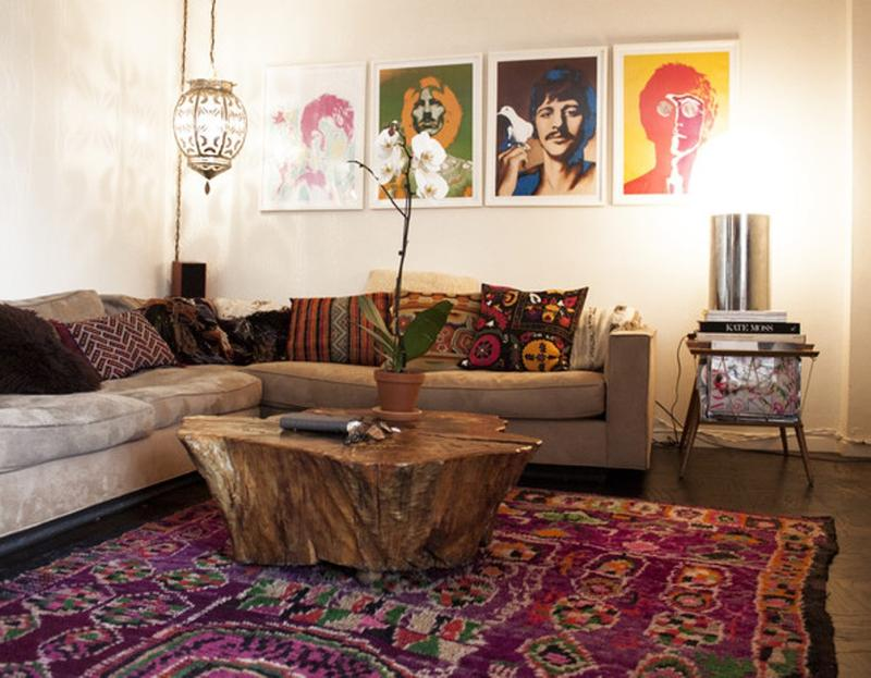 Delightful Cool Bohemian Living Room