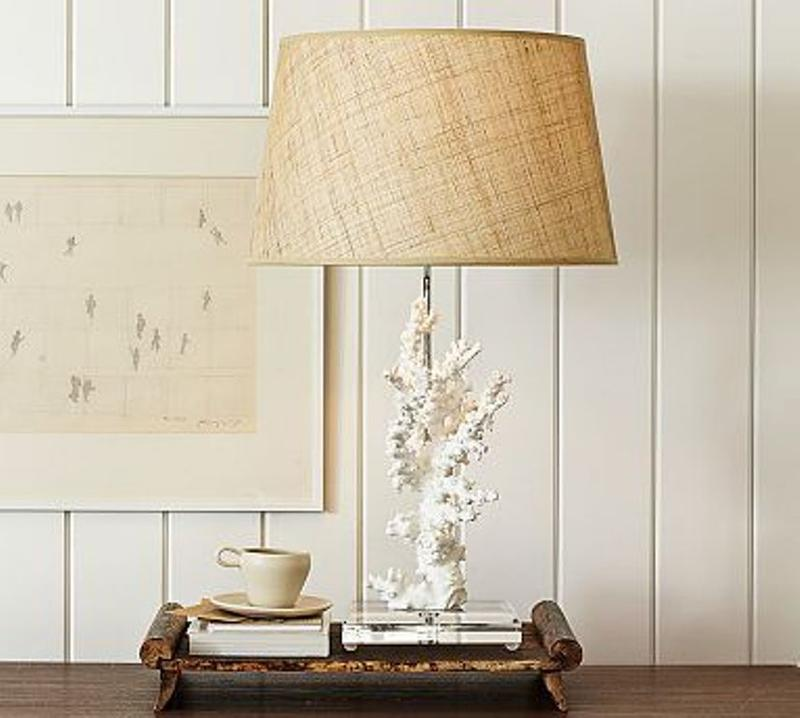 10 beautiful creamy bedside lamps with accent bases