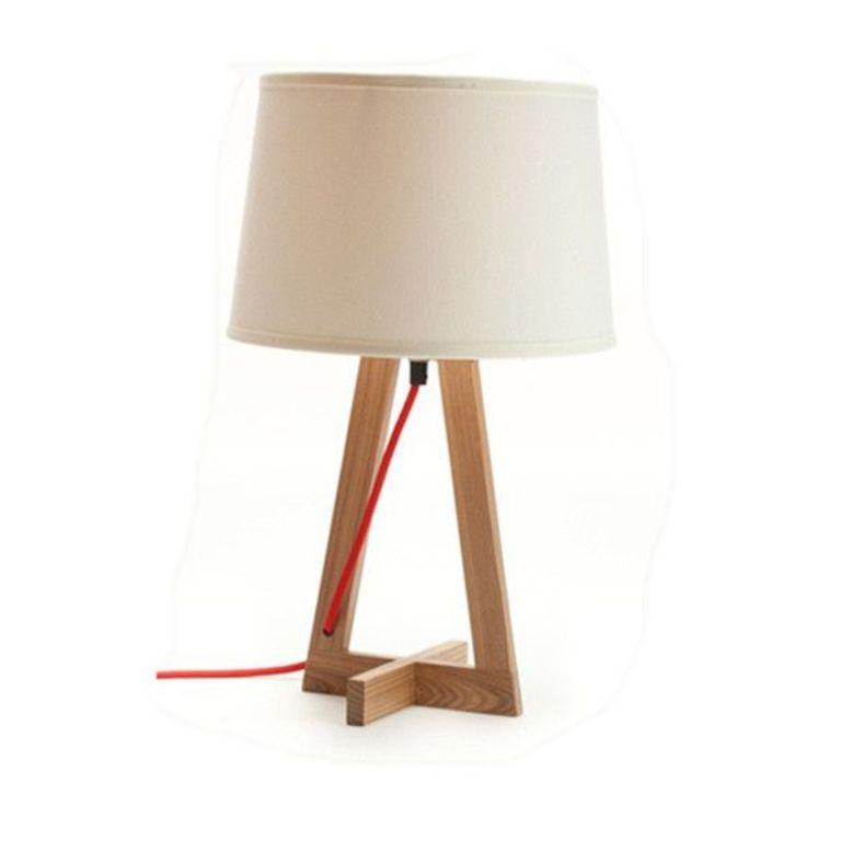 Modern wooden bed designs pictures - 10 Beautiful Creamy Bedside Lamps With Accent Bases Rilane