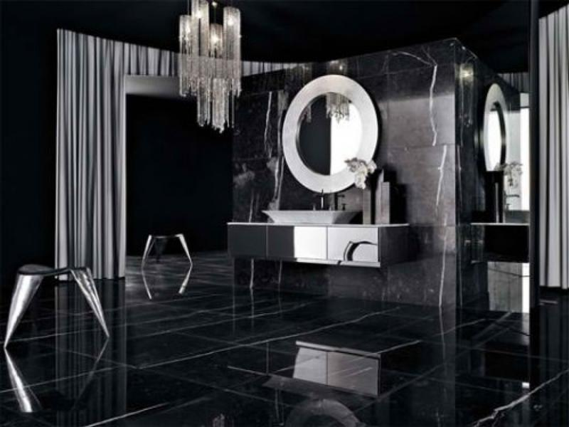 Black Bathroom 20 bold black bathroom design ideas  rilane