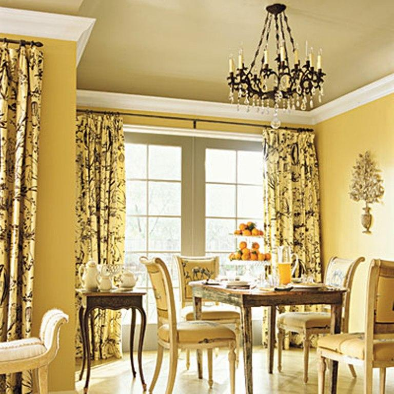 Elegant Yellow Dining Room