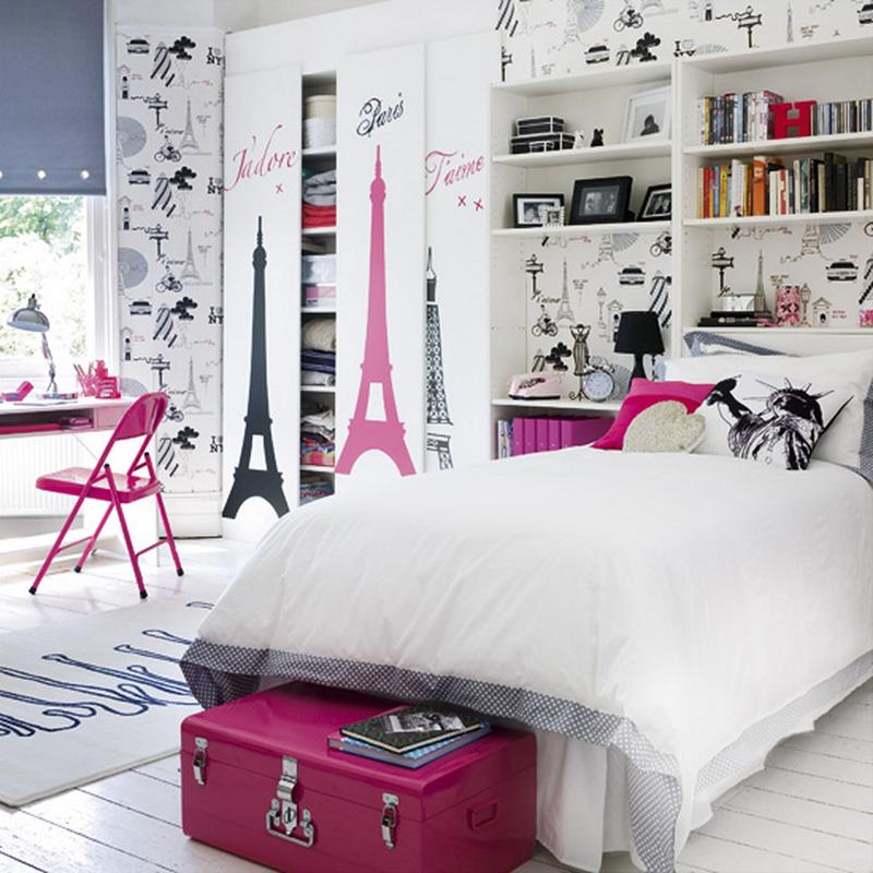 Fashionable French Inspired Bedroom For Girl