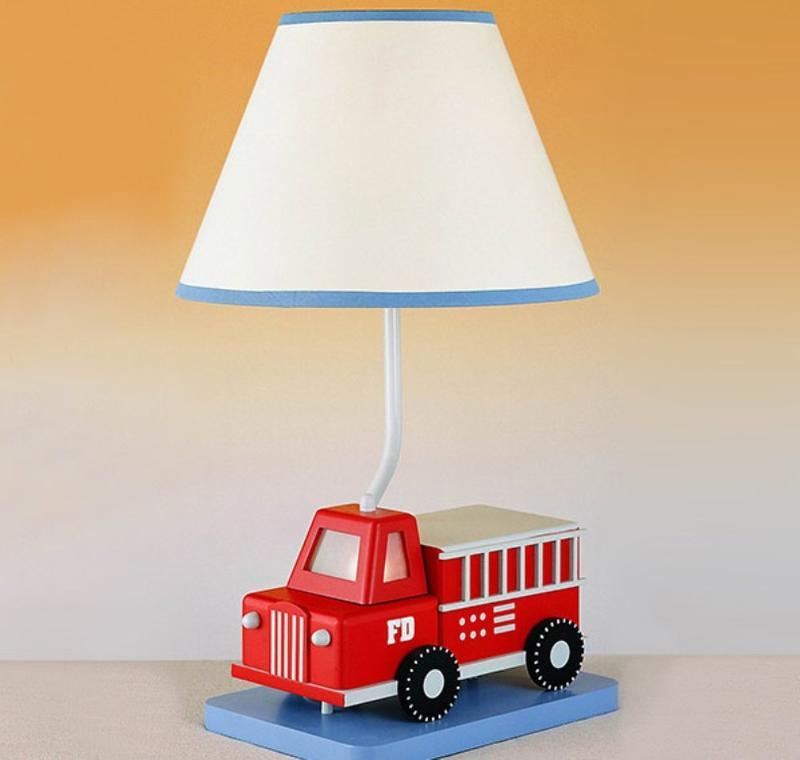 Boy Truck Lamp : Interesting bedside lamps for boy s bedroom rilane