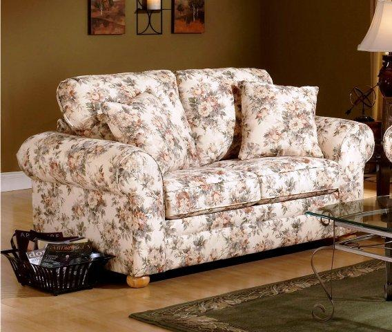 floral pattern fabric traditional sofa