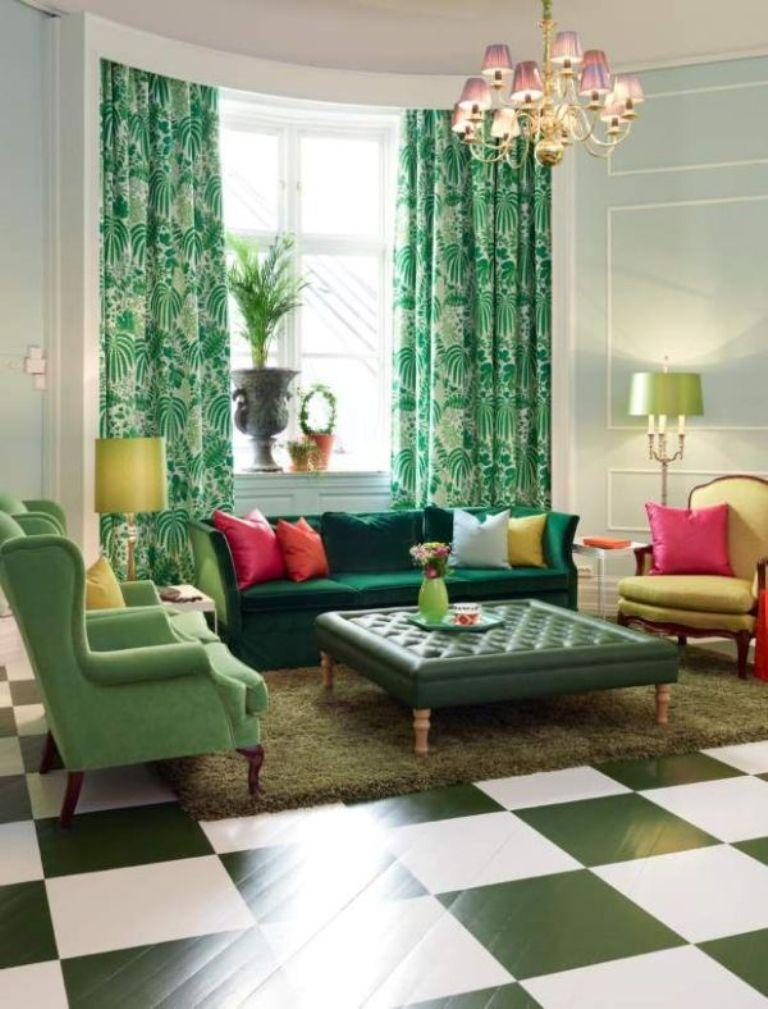 green curtains for living room. Lime Floral Living Room Curtains 15 Lively and Colorful Curtain Ideas for the  Rilane