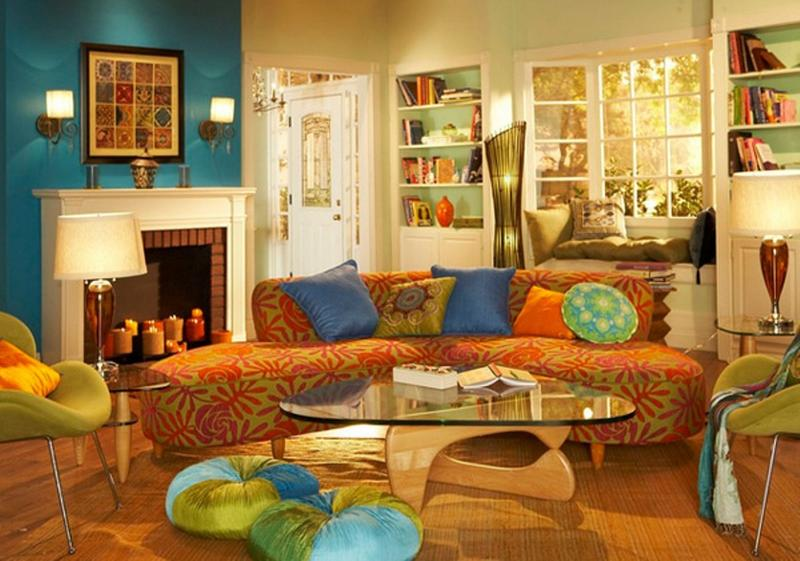 Lively Bohemian Living Room