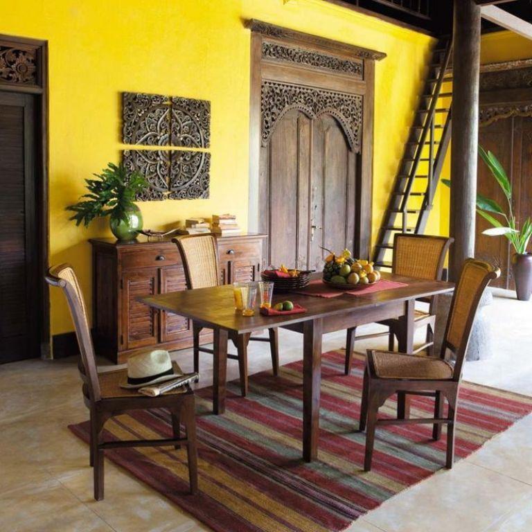 Mediterranean Yellow Dining Room