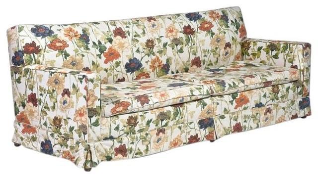 Mid Century Floral Sofa