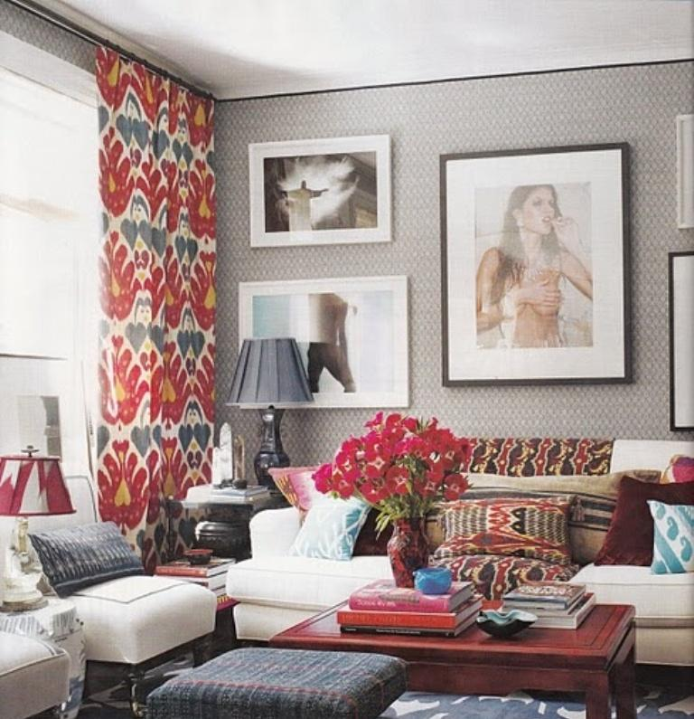 15 lively and colorful curtain ideas for the living room for Living room curtains
