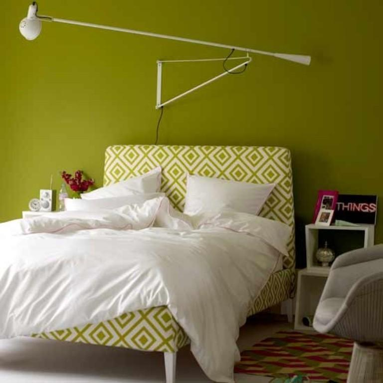 Modern Lime Green Bedroom